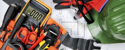 Electrical command and protection equipment and tools for operating in compliance with the safety standards of a residential project