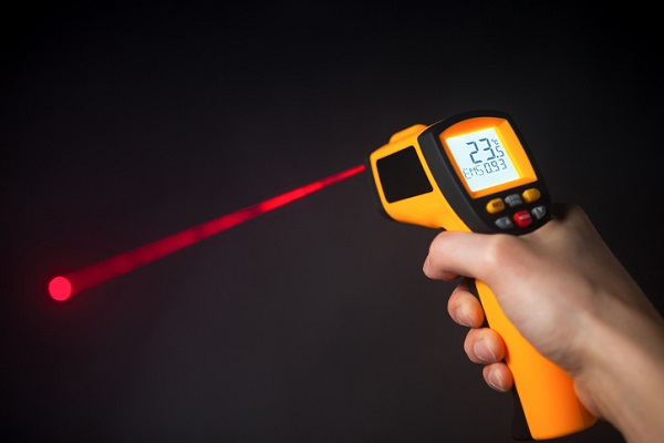 An infrared thermometer allows you to locate overheating circuits