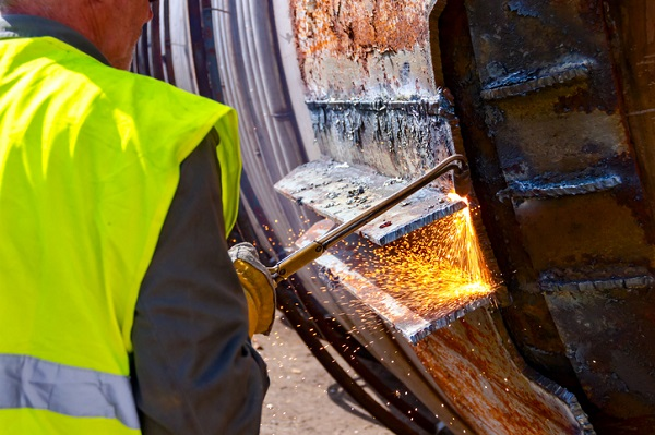 Acetylene is the fuel gas producing the hottest flame, and can be used for both cutting and welding