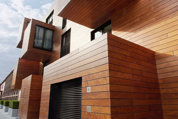 Wood siding can be applied in various forms, and be painted in various colours